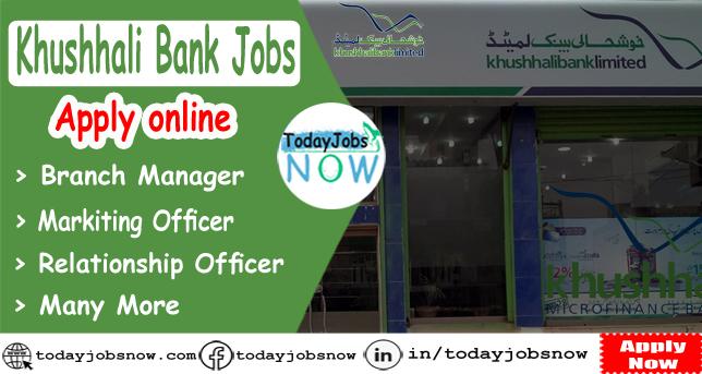 khushhali bank jobs